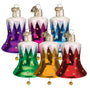Snowcapped Bell Christmas Ornament Retro Blown Glass 6 Assorted Please choose one