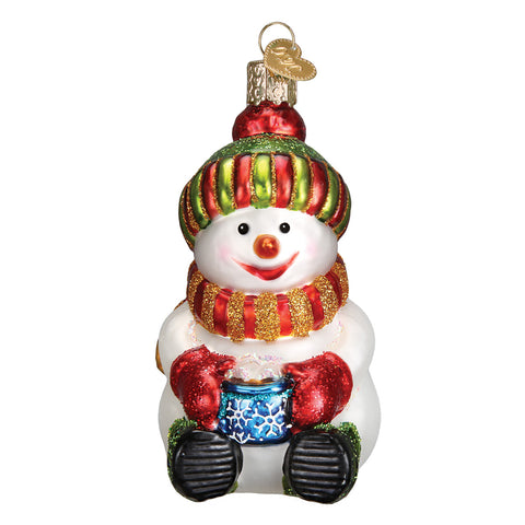 Snowman with Cocoa Ornament for Christmas Tree