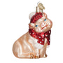 Snowy Pig Ornament for Christmas Tree