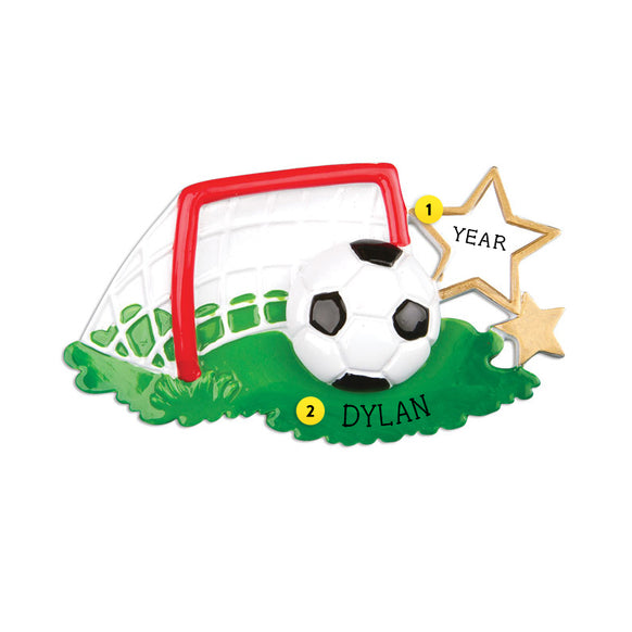 Soccer Goal and Ball Ornament for Christmas Tree