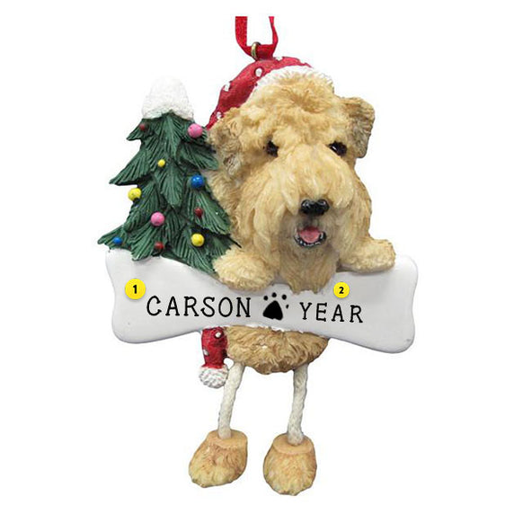 Soft-Coated Wheaten Terrier Dog Ornament for Christmas Tree