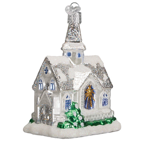 Sparkling Cathedral Ornament for Christmas Tree