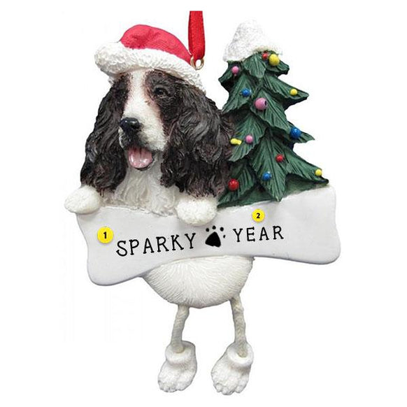 Springer Spaniel Dog Ornament for Christmas Tree