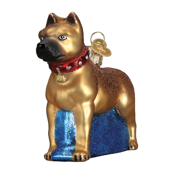 Staffordshire Terrier Ornament for Christmas Tree