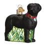 Standing Black Lab Ornament for Christmas Tree