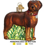 Labrador Ornament - Standing , Chocolate