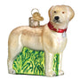 Standing Yellow Lab Ornament for Christmas Tree