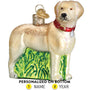 Labrador Ornament - Standing , Yellow