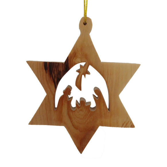 Star of David with Nativity Ornament