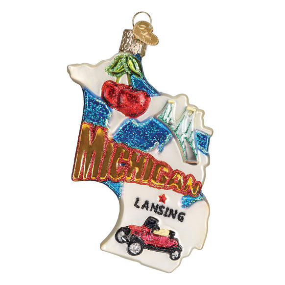 State of Michigan Ornament for Christmas Tree