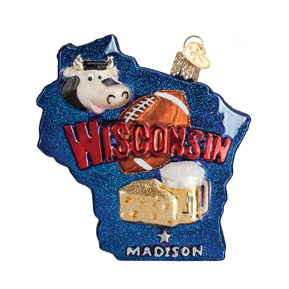 State of Wisconsin Ornament for Christmas Tree