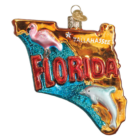 State of Florida Ornament for Christmas Tree