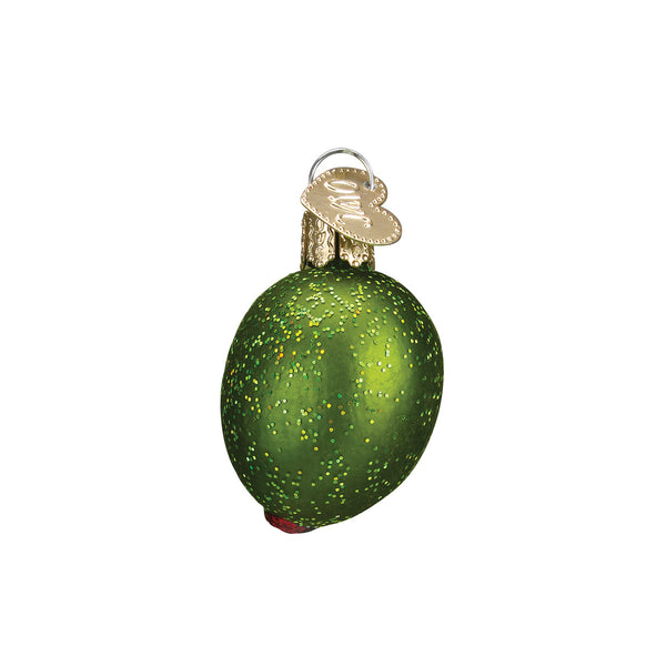 Stuffed Green Olive Ornament for Christmas Tree