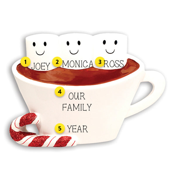 Hot Cocoa Family of 3 Table Top Decoration
