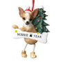 Tan Chihuahua Dog Ornament for Christmas Tree