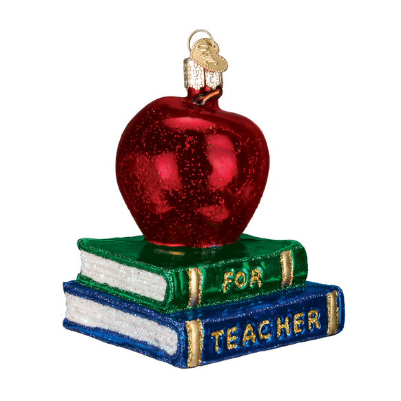 Teacher's Apple Ornament for Christmas Tree