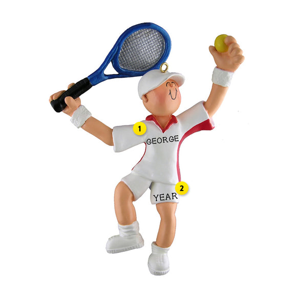 Tennis Player Ornament | Sports Ornaments | Callisters ...