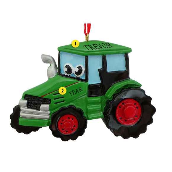 Tractor with Face Ornament for Christmas Tree