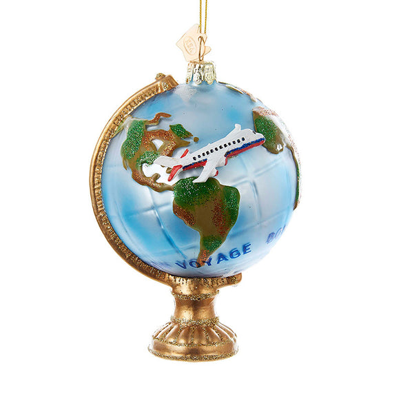 Travel Globe Ornament for Christmas Tree