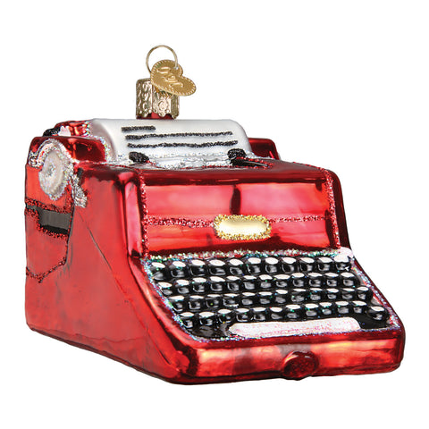 Typewriter Ornament for Christmas Tree