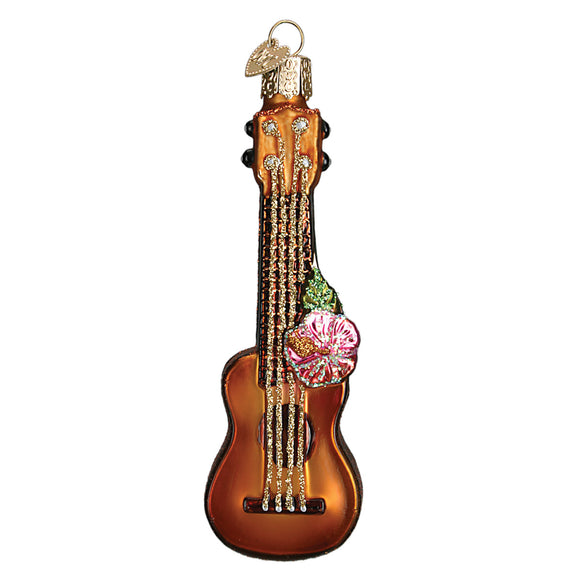 Glass Ukulele Ornament for Christmas Tree