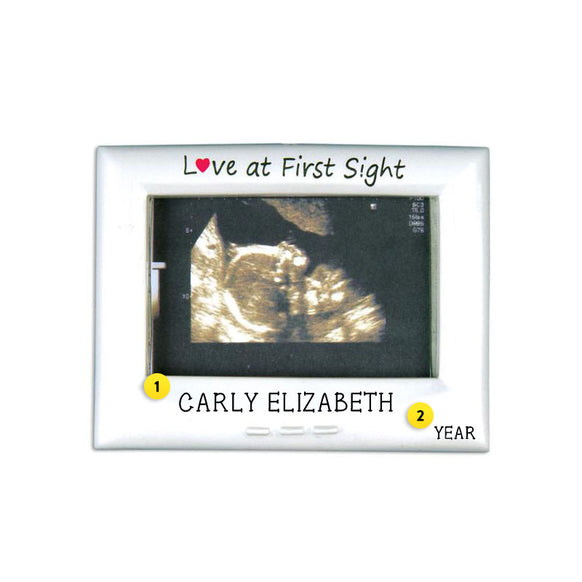 Ultrasound Picture Frame Ornament for Christmas Tree
