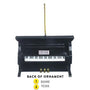 Upright Piano Christmas Ornament - Black Personalized