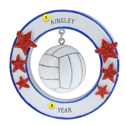volleyball 3d resin personalized ornament