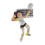 Volleyball Ornament - Female, Brown Hair for Christmas Tree