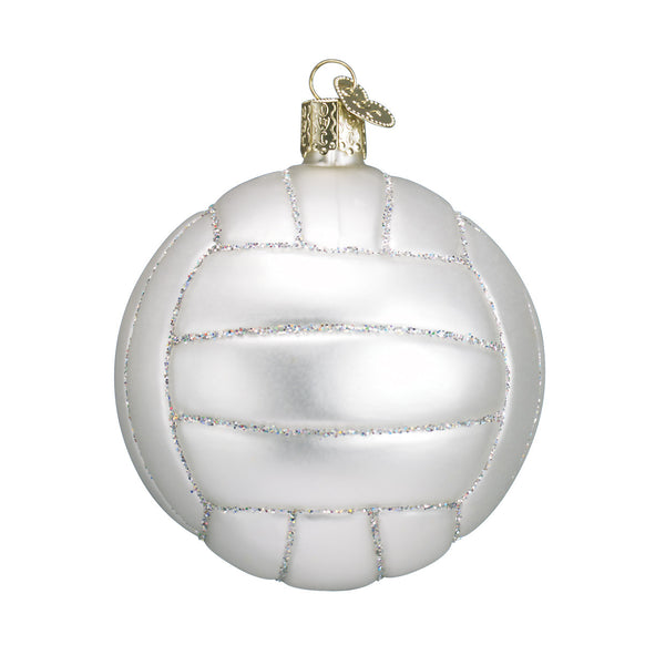 Glass Volleyball Ornament for Christmas Tree