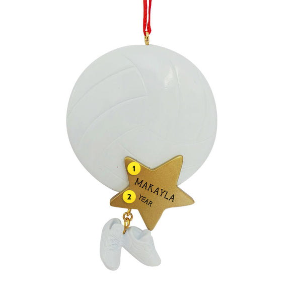 Volleyball Ball with Star Ornament for Christmas Tree