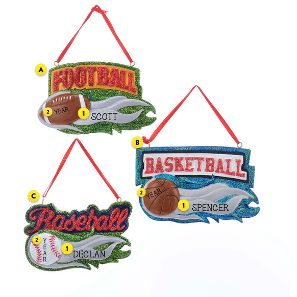 Assorted Sports Ornaments