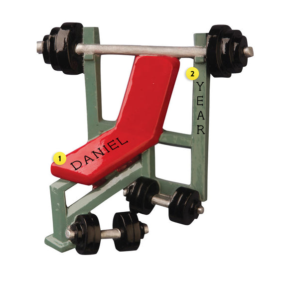 Weight Bench Ornament