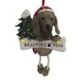 Weimaraner Dog Ornament for Christmas Tree