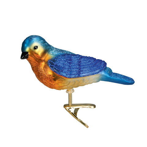 Clip-On Western Bluebird Ornament for Christmas Tree