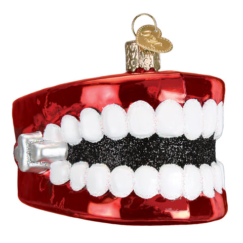 Wind-Up Teeth Ornament for Christmas Tree