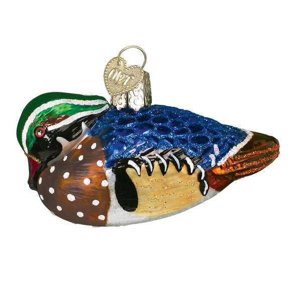 Wood Duck Ornament for Christmas Tree