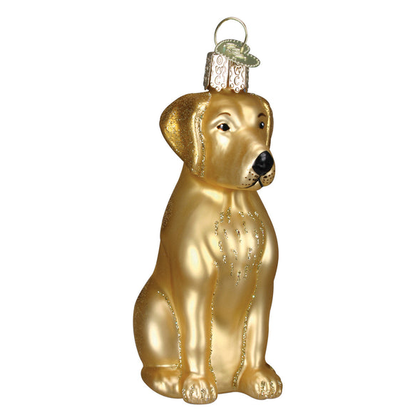 Yellow Labrador Ornament for Christmas Tree