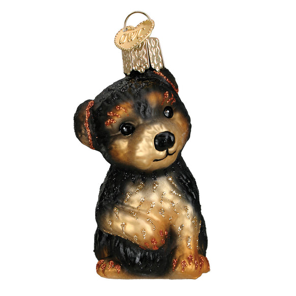 Yorkie Puppy Ornament for Christmas Tree