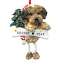 Yorkipoo Dog Ornament for Christmas Tree