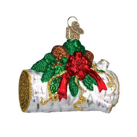 Yule Log Ornament for Christmas Tree