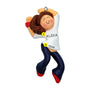 Zumba Hip-Hop Ornament - White Female, Brown Hair for Christmas Tree