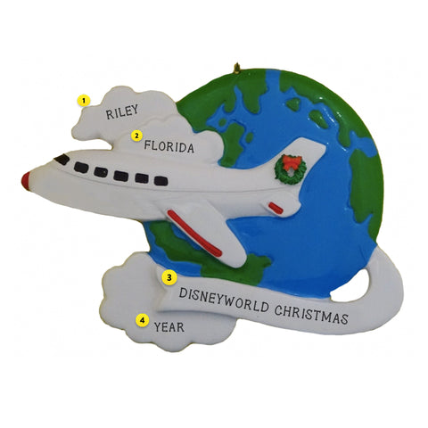 World Traveler Christmas Tree Ornament