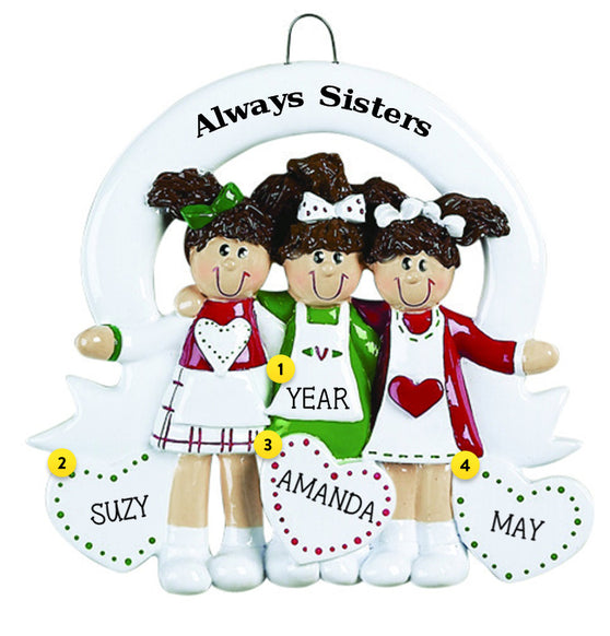 Three Sister Christmas Ornament - Always Sisters Ornament-Three Sisters €� Callisters Christmas