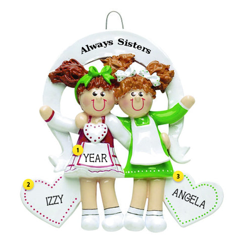 Two Sisters Christmas Ornament