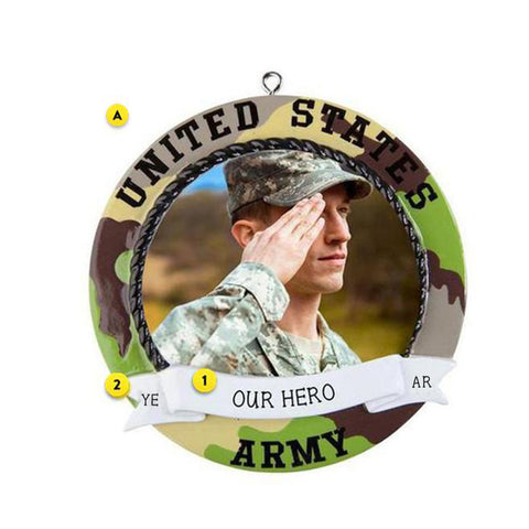Army Photo Frame Ornament