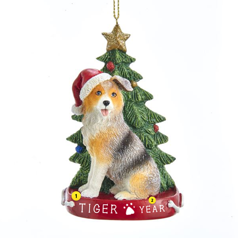 Australian Shepherd Dog Ornament