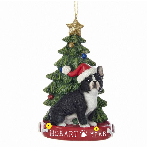 French Bulldog Dog Ornament For Christmas Tree