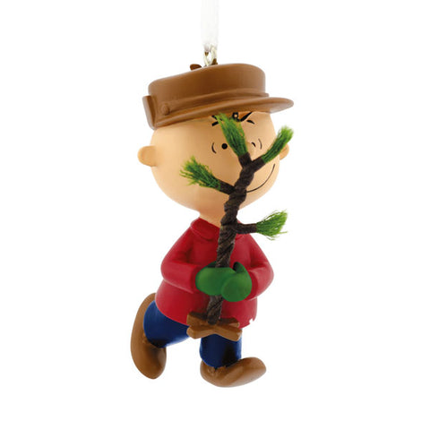 Charlie Brown with Christmas Tree Ornament