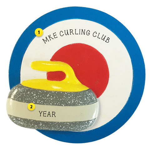 Curling Resin Personalized Ornament